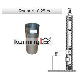 Nerezové komínové vložky - rovný díl dl. 0,25m - 0,6 mm