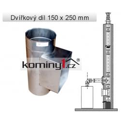 Nerezové komínové vložky - čistící díl. 150x250mm, 0,6 mm