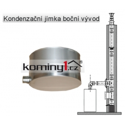 Nerezové komínové vložky - kondenzační jímka výv. do boku 0,6 mm