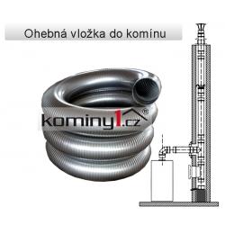 Nerezový díl - ohebná vložka Flex D1 na plyn (0,3mm)