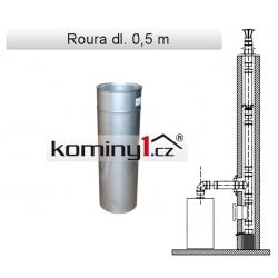 Nerezové komínové vložky - rovný díl dl. 0,5m - 0,8 mm