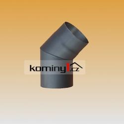 Koleno 120/45 pevné - černé odkouření tl. 1,5 mm