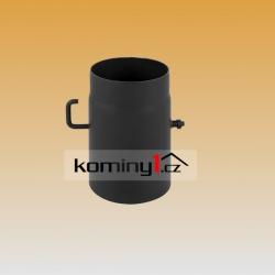 Komínová klapka pr. 120 mm k černému odkouření tl. 1,5 mm