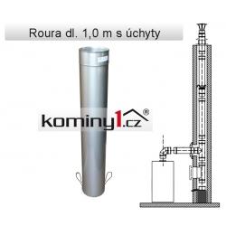 Nerezové komínové vložky - rovný díl dl. 1,0m s úchyty - 0,8 mm