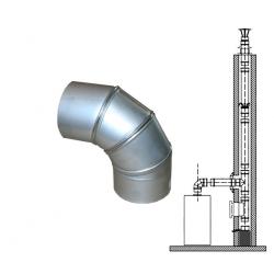 Nerezové komínové vložky - koleno nastavitelné 0- 90 st., 0,6 mm