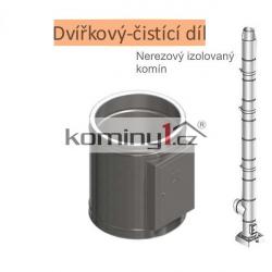 Dvířkový čistící díl 150x250mm - pro nerezové izolované komíny