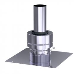 Krycí deska nerez flex v pr. 60 mm - modrý plast