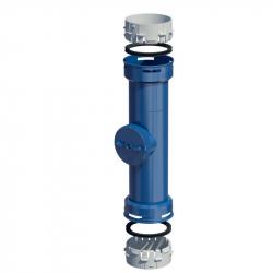 Plastový díl s kontrolním otvorem Flex v pr. 80 mm - modrý plast