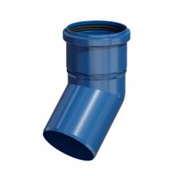 Plastové koleno 45° v pr. 80 mm - modrý plast