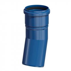 Plastové koleno 45° v pr. 110 mm - modrý plast