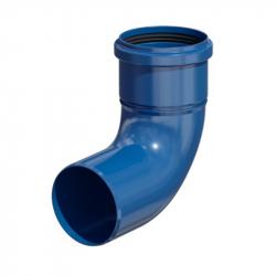 Plastové koleno 87° s kontrolním otvorem v pr. 110 mm - modrý plast