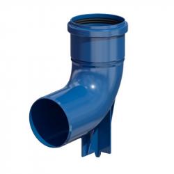 Plastové koleno 87° patní v pr. 110 mm - modrý plast