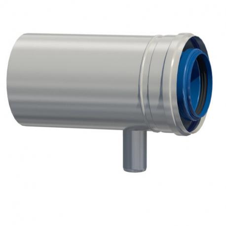 Dvoustěnný (koaxiální) díl s odvodem kondenzátu v pr. 60/100 mm