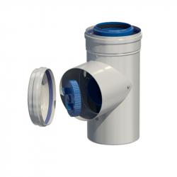 Dvoustěnný (koaxiální) díl s kontrolním otvorem v pr. 80/125 mm
