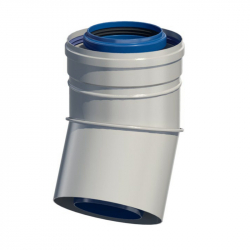 Dvoustěnný (koaxiální) koleno 30° v pr. 80/125 mm
