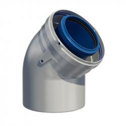 Dvoustěnný (koaxiální) koleno 45° v pr. 80/125 mm