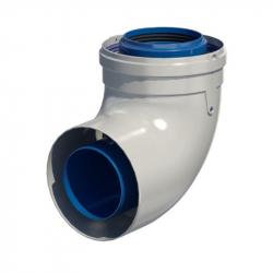 Dvoustěnný (koaxiální) koleno 87° v pr. 80/125 mm