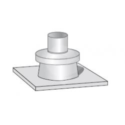 Nerezová krycí deska v pr. 110 mm
