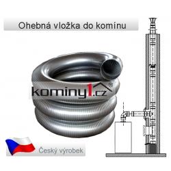 Nerezový díl - ohebná vložka Flex D3 na tuhé paliva (0,4mm)